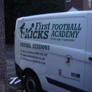 First Kicks Van Sign