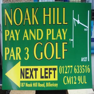 Noak Hill Golf Sign