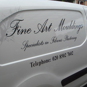 Fine Art Mouldings Vehicle Signage