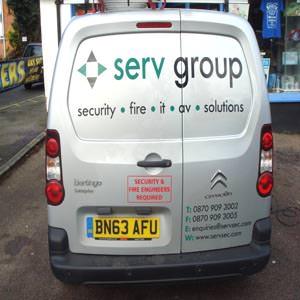 Serv Van Sign