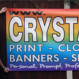 Signage services from Crystal Sign and Print