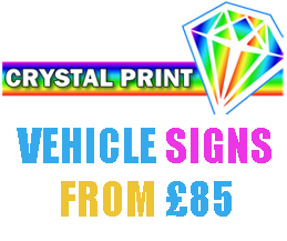Signage services from Crystal Sign and Print in Brentwood, Essex